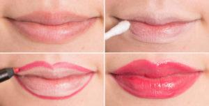 Объемные губы с помощью макияжа