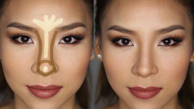Как сузить нос при помощи макияжа